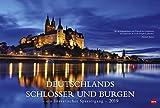 Deutschlands Schlösser und Burgen - ein literarischer Spaziergang - Kalender 2019 - Heye-Verlag - Wandkalender mit Zitaten - 58 cm x 39 cm