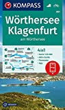 KOMPASS Wanderkarte Wörthersee, Klagenfurt am Wörthersee: 4in1 Wanderkarte 1:25000 mit Panorama und Aktiv Guide inklusive Karte zur offline Verwendung ... (KOMPASS-Wanderkarten, Band 61)