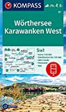 KOMPASS Wanderkarte Wörthersee, Karawanken West: 5in1 Wanderkarte 1:50000 mit Panorama, Aktiv Guide und Detailkarten inklusive Karte zur offline ... Langlaufen. (KOMPASS-Wanderkarten, Band 61)