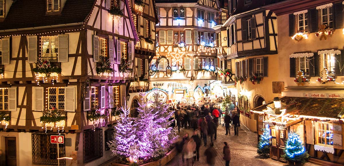 Colmar Weihnachtsmarkt.Weihnachten Und Advent In Colmar Im Elsass In Frankreich