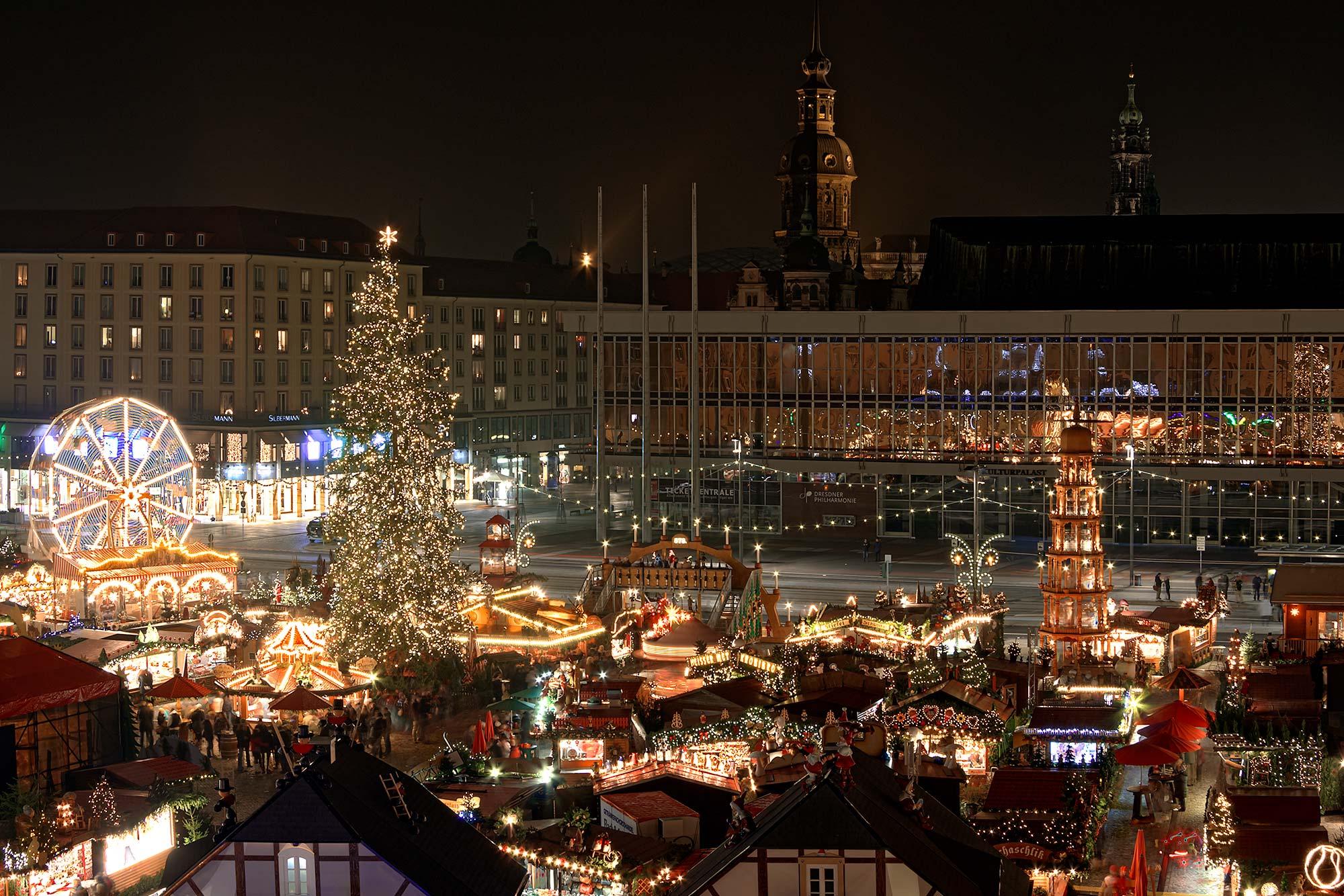 Weihnachtsmarkt In Dresden.Der Dresdner Striezelmarkt Beliebtester Weihnachtsmarkt In Sachsen