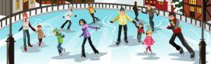 Eisbahn Eislaufen Weihnachten