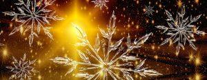 Eissterne Lichter im Winter