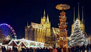 Weihnachtsmarkt Erfurt.Erfurter Weihnachtsmarkt Auf Dem Domplatz Vor Traumhafter Kulisse