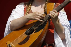 Mittelalterliches Weihnachten Musikerin