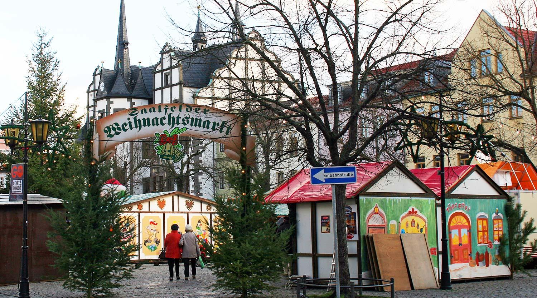 Bad Oeynhausen Weihnachtsmarkt.Saalfelder Weihnachtsmarkt In Der Stadt Der Feengrotten