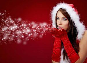 Frau zu Weihnachten