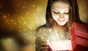 Weihnachten Geschenk Frau