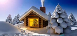 Adventsmarkt im Schnee